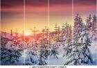 Winter Tree Leaves Photo Wallpaper White Snow Sunset Sky Mural Home Bedroom Deco