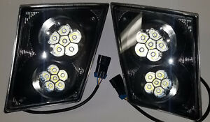 Volvo Vt Vnl 2003+ 12 Led Fog Light Lamp Bumper Passenger & Driver Pair Set