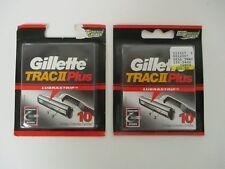 20 GILLETTE TRAC II PLUS w/ LUBRASTRIP REFILL CARTRIDGES - SEALED - MP 1001R