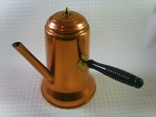 """Vintage Coppercraft Guild Turkish Coffee Pot with Lid and Handle Usa 8"""" tall Euc"""
