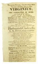 Theatre Broadside / Broadside for the Theatre Royal at Covent Garden presenting