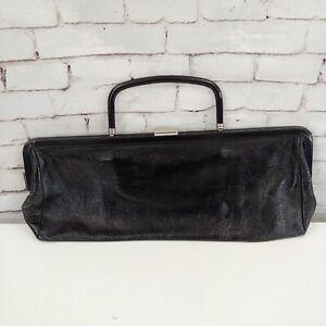 Hobo International Black Patent Framed Clutch Handbag