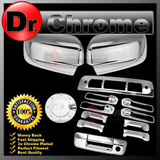 Chrome Mirror+4 Door Handle+Tailgate+KH+Gas+3rd Brake Cover for 09-18 Dodge Ram