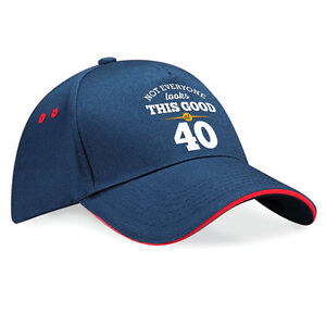 40th Birthday Gift Present Idea For Men Women Ladies Dad Mum Happy 40 Hat