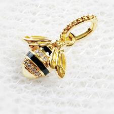 Genuine PANDORA SHINE Plated Silver Queen Bee Pendant Charm 367075EN16