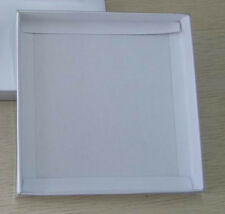 100 Square 10cm White Clear Invitation Bomboniere Box Wedding Coaster Sml Plate