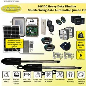 Farm Gate Opener for Double Swing Gate. Solar Powered Farm Gate Opener Kit.