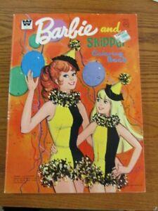1973 Barbie And Skipper Coloring Book Unused Vintage