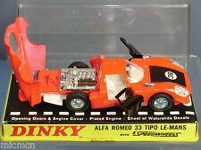 "Dinky Toys Modelo No.210 Alfa Romeo 33 tipo"" ""Le-Mans VN MIB"