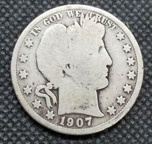 1907-O Barber Half Dollar | GOOD to CHOICE ABOUT GOOD (G/AG+)