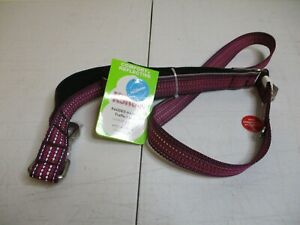 Maroon Kong 4' Padded Handle Dog Rope Leash Comfort + Reflective - 4 Feet