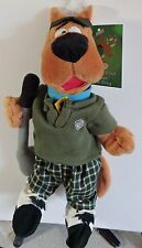 Warner Brothers 2000 Scooby-Doo Golfer bean bag plush figure-New-w/tags