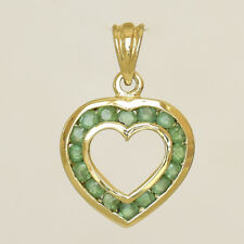 NATURAL EMERALD PENDANT GENUINE 9K 375 9CT GOLD MAY BIRTHSTONE GIFT BOXED NEW