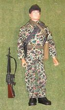Original vintage action man loose british COMMANDO floqué head 131