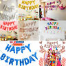 Happy Birthday Balloons Banner Bunting Party Balloon Decoration Self Inflating