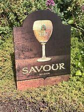 "Leffe Savour Belgium Beer Bar Wood Sign ""New"" Mirror Restaurant Stella Pub"