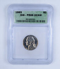 1963 Jefferson Nickel 5c PR69 DCAM