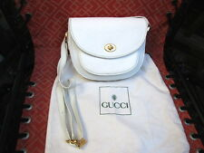 GUCCI WHITE SHOULDER BAG CROSSBODY PURSE MONOGRAM HANDBAG & DUST BAG GG