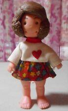 """1973 - 4"""" Doll - 3 interchangable faces - head turns - Hong Kong"""