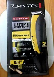 Remington HC5855 Haircut Kit - Black / yellow  Hair Clippers for Men (15 pieces)