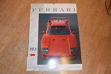 !! LIMITIERT Ferrari Kalender 1989: Project F1 (Calendar) 250TR, 250 GTO, F40 !!