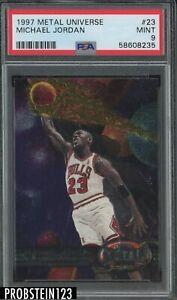 1997 Fleer Metal Universe #23 Michael Jordan Chicago Bulls HOF PSA 9 MINT