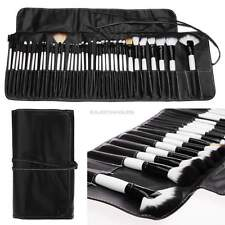 36 pcs Professional Makeup Cosmetic Brushes Set Kit Goat Hair + Leather Case