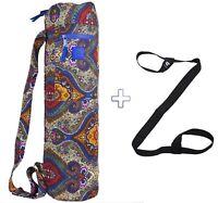 Yoga Mat Bag Multifunctional 2 Pockets Beautiful Colors + FREE Yoga Mat Strap!