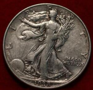 1938 Philadelphia Mint Silver Walking Liberty Half