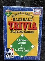 1996 Major League Baseball Trivia Playing Cards