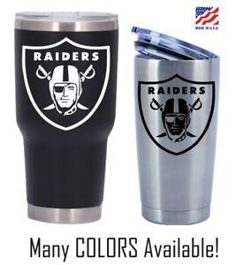 Oakland Raiders Football Decal for NFL 20 30 Ozark YETI RTIC Tumbler Sticker