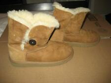 Girls UGG Australia Chestnut Brown Bailey Button Boots Size Size 3 EUC