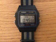 Casio F-91W-LCD Black Resin Watch