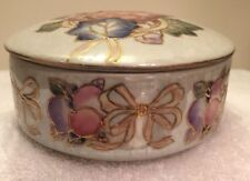 Oriental Accent Inc. Collectible Ceramic Trinket / Bowl with Lid Iridescent