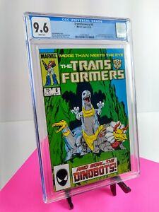 TRANSFORMERS #8 1st First print DINOBOTS | Marvel 1985 |  CGC 9.6 WP