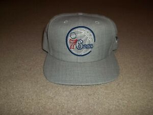 New Era Philadelphia 76ers Sixers 9Fifty Gray One Size Fits Most NBA Hat Cap