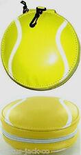 Nuevo Amarillo Y Blanco Pelota De Tenis Acolchado Estuche Para 24 Cd's Dvd's