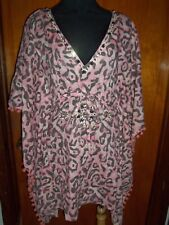 Victoria's Secret Gudi Ludi Caftan Kimono Beaded Beach Cover Up Dress XS New