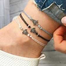 Bohemian Ankle Bracelet Foot Jewelry Adjustable Elegant Multilayer Rope Chain 6T