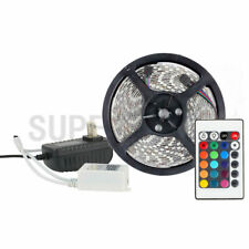 RGB 5M 300Leds 3528 SMD IP65 LED Strip Light+12V Power Supply+24keys IR Remote