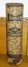 Old Vintage Paperboard Ranger Fire Extinguisher - Opened But Full - Scranton PA
