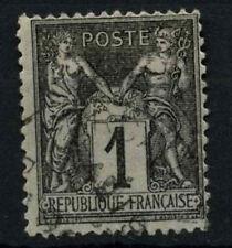 FRANCIA 1877-90, 1c Nero Usato #D50397