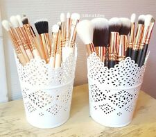 MAKE UP BRUSH STORAGE /CANDLE HOLDER POTS,PENS/PENCILS SET OF 2 FREE DELIVERY UK