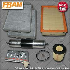 SERVICE KIT BMW 5 SERIES 528I E39 FRAM OIL AIR FUEL CABIN FILTER PLUGS 1995-2000