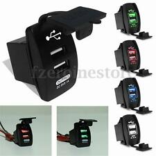 Universal Dual Double Port 2 USB 12V In Car Socket Lighter Charger Adapter 3.1A