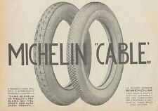 Z1784 Pneumatici MICHELIN Cable - Pubblicità d'epoca - 1923 Old advertising