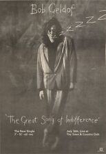 16/6/90Pgn19 Advert: Bob Geldof Single the Great Song Of Indifference 10x7