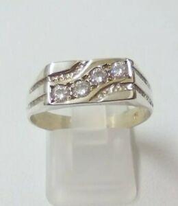 Vintage 925 Sterling Silver Ring Large Size T1/2 - 3.3g