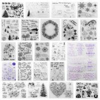 Klar Silikon Stempel Clear Stamps Scrapbooking Basteln Briefmarken Fotoalbum New