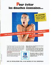 Publicité Advertising 078  1996   PGN   gaz naturel  ballon eau chaude